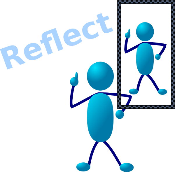 Reflection panda free images. Clipart writing review