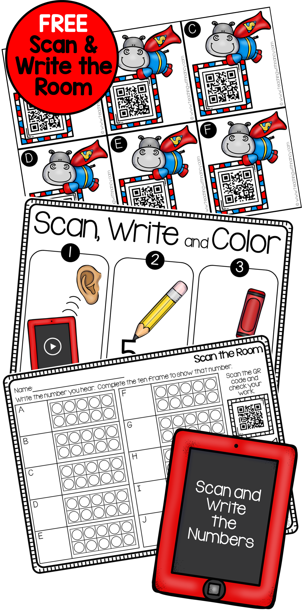 Super hippo pinterest free. Clipart writing show your work