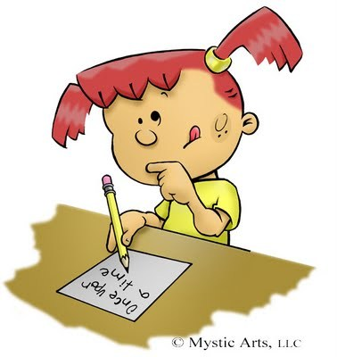 Girl who love to. Clipart writing story writing