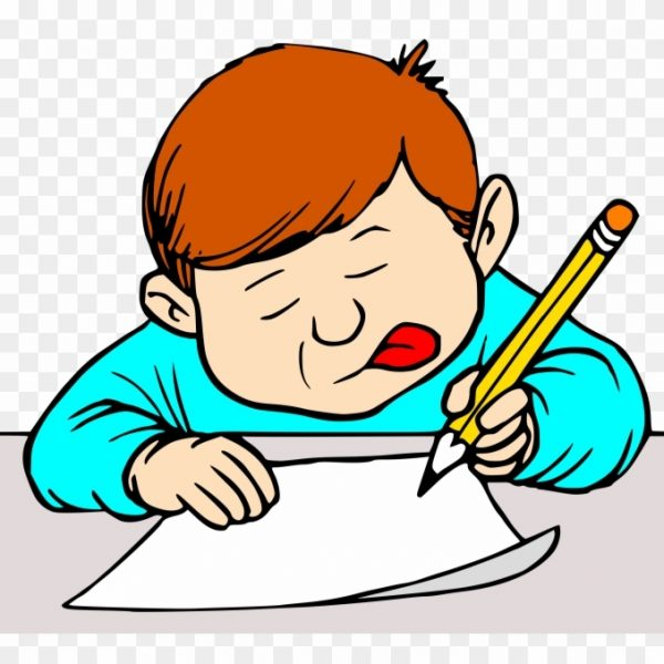 Clipart writing student. Big image clip art