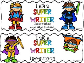 Clipart writing super. Workshop lucy calkins inspired