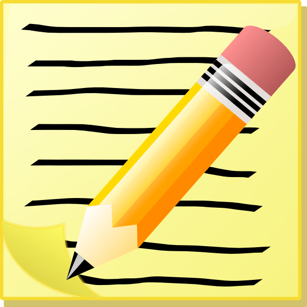 Free writing center download. Writer clipart written note