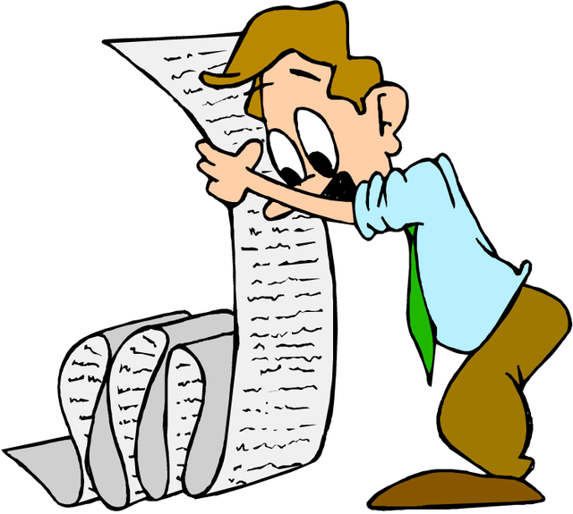 List making heroic advice. Writer clipart technical writing
