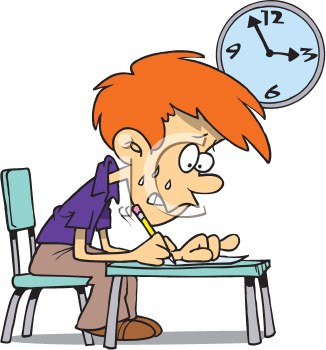 Free student cartoons home. Clipart writing testing
