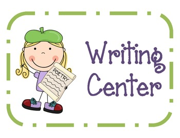 Super pack creative games. Poetry clipart writing center