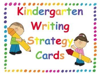 Clipart writing writing strategy. Kindergarten goal cards