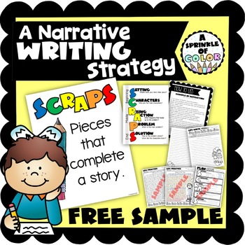 Scraps a narrative free. Clipart writing writing strategy