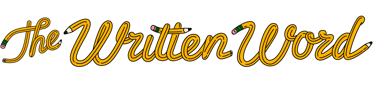 Written word logo wide. Words clipart education