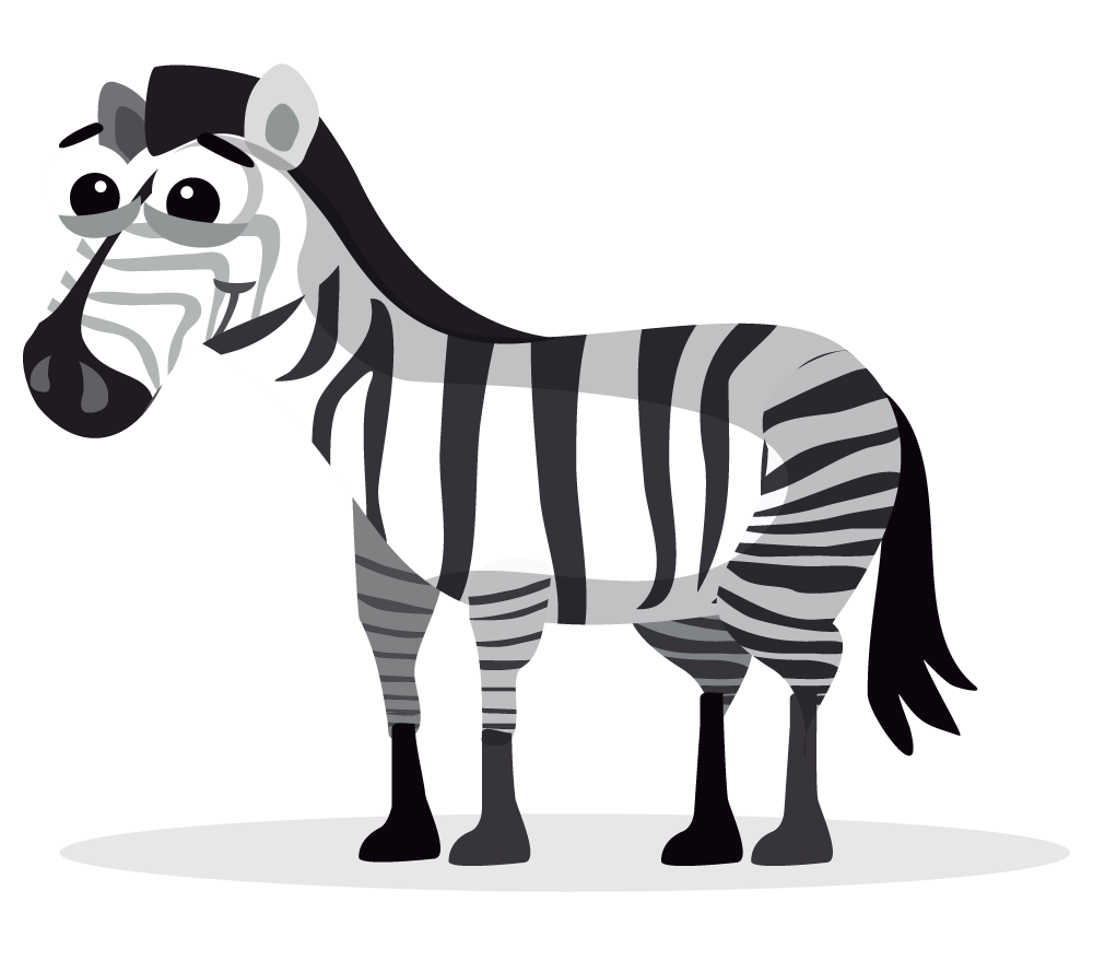 Clipart zebra. Sad pencil and in