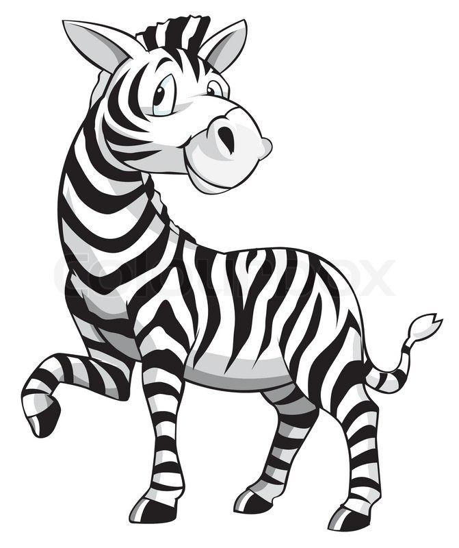 Clipart zebra. Cartoon vector colourbox pinterest