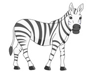 Clipart zebra. Free clip art pictures