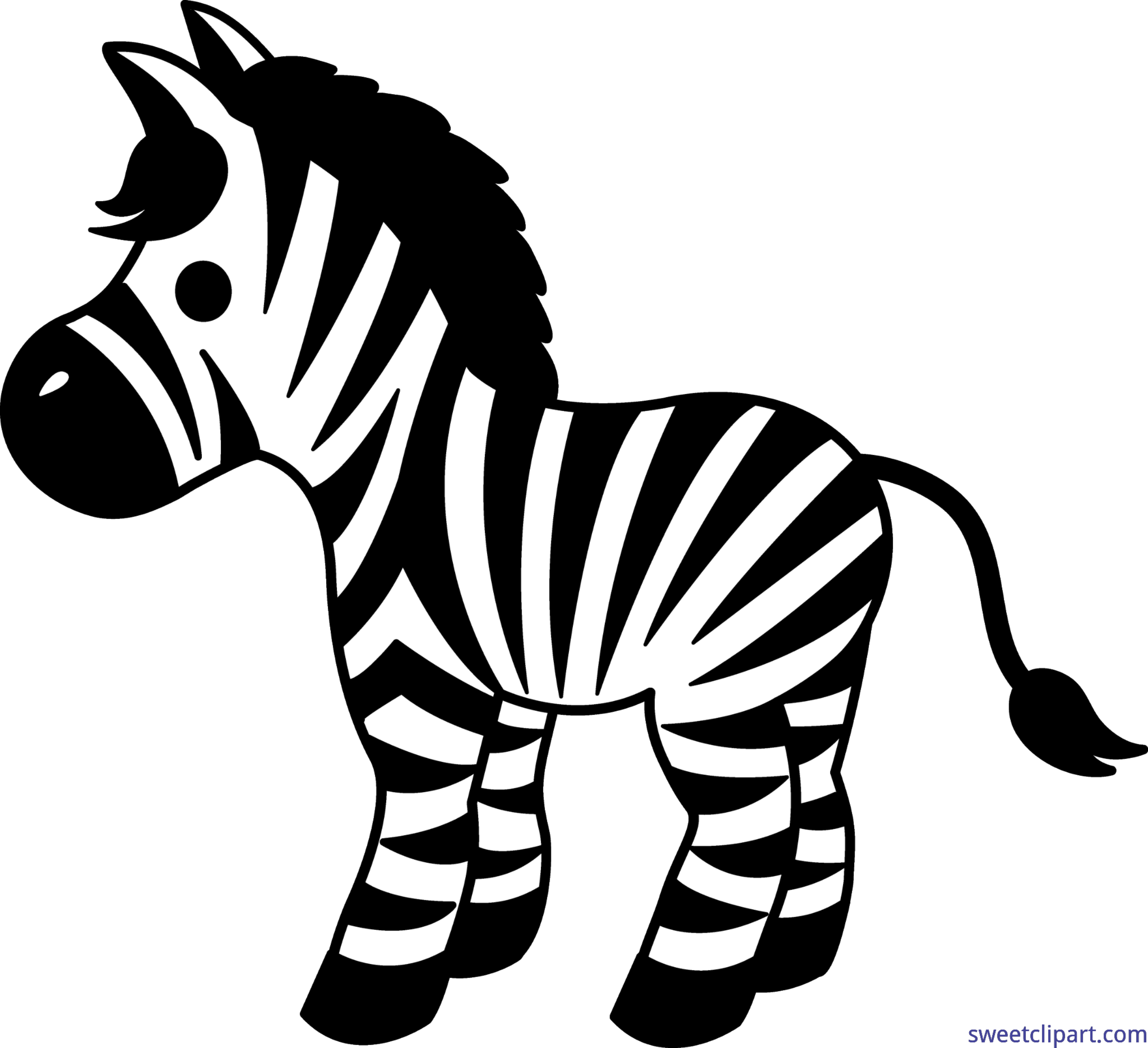 Clipart zebra. Cute clip art sweet