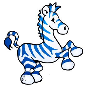 Full color drawings and. Clipart zebra blue zebra