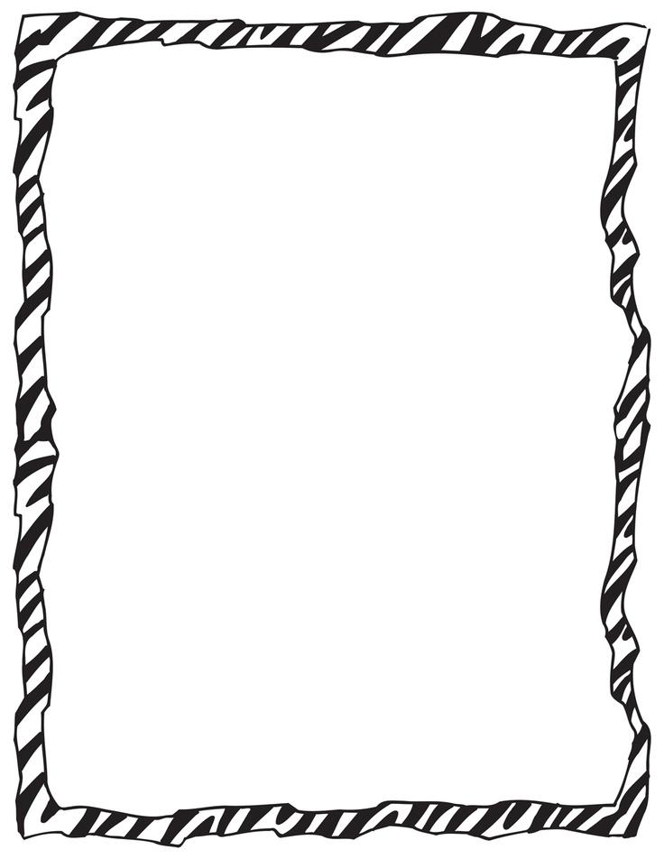 Free print download clip. Clipart zebra border