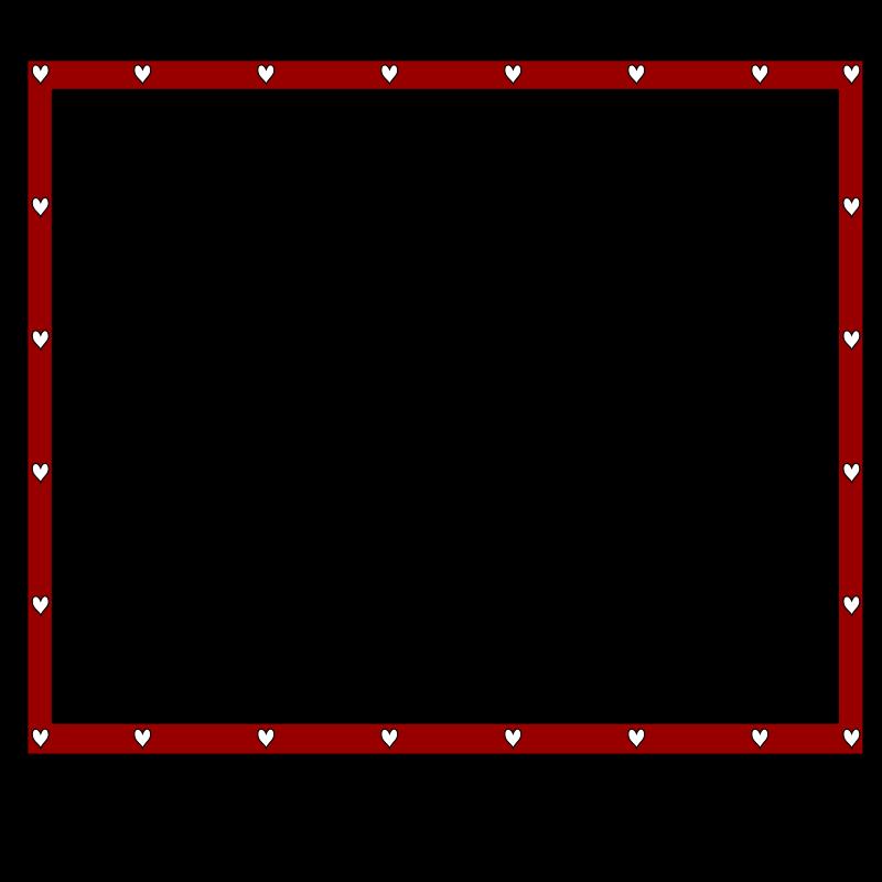 Redblack hearts x free. Clipart zebra border