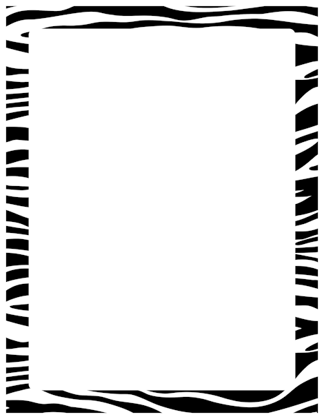 Pin by muse printables. Clipart zebra border