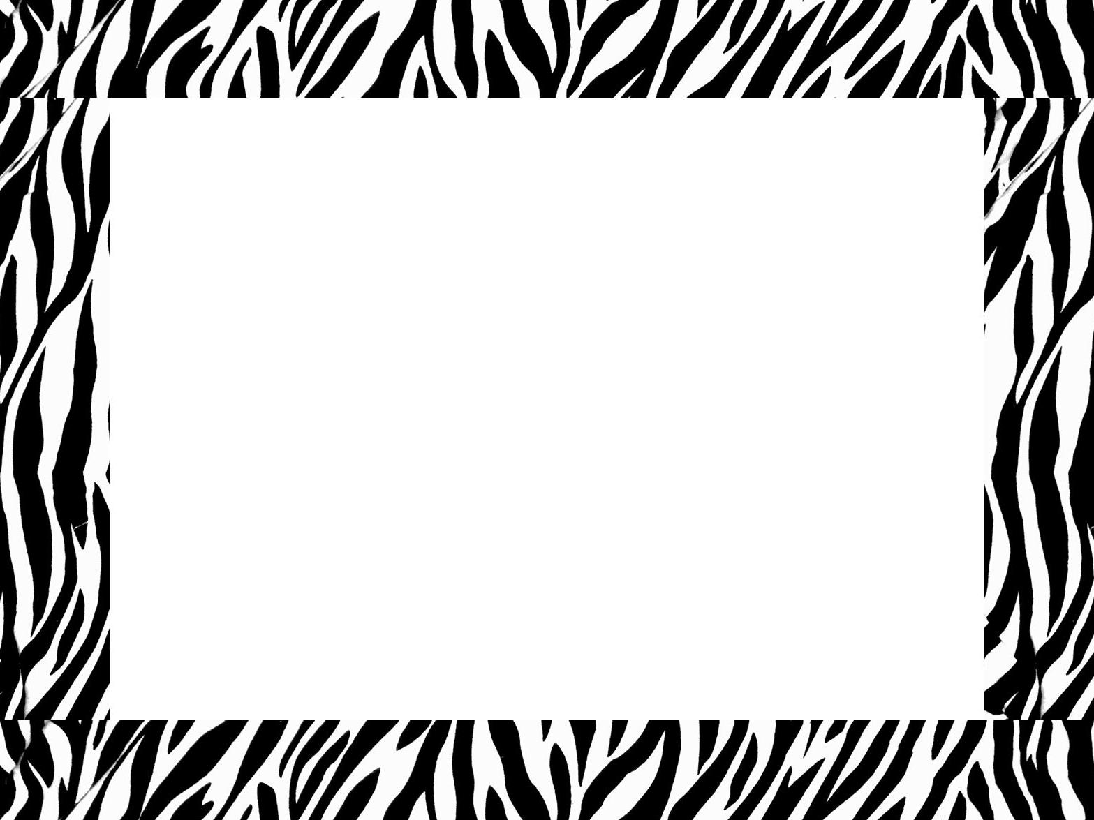 Clipart zebra border. Free print download clip