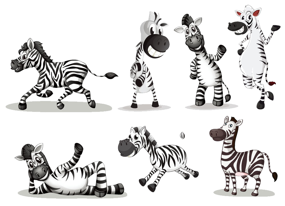 Clipart zebra carton. Cartoon royalty free clip