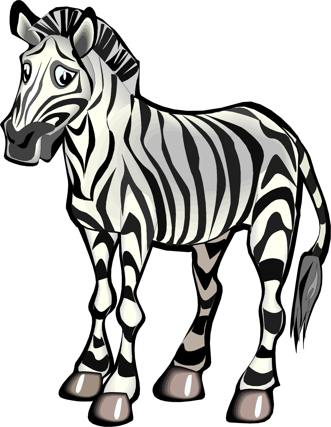 Clipart zebra carton. Free cartoon pictures download