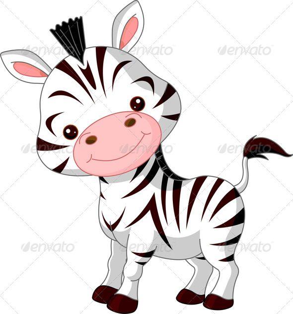 Clipart zebra cartoon character. Fun zoo animals characters