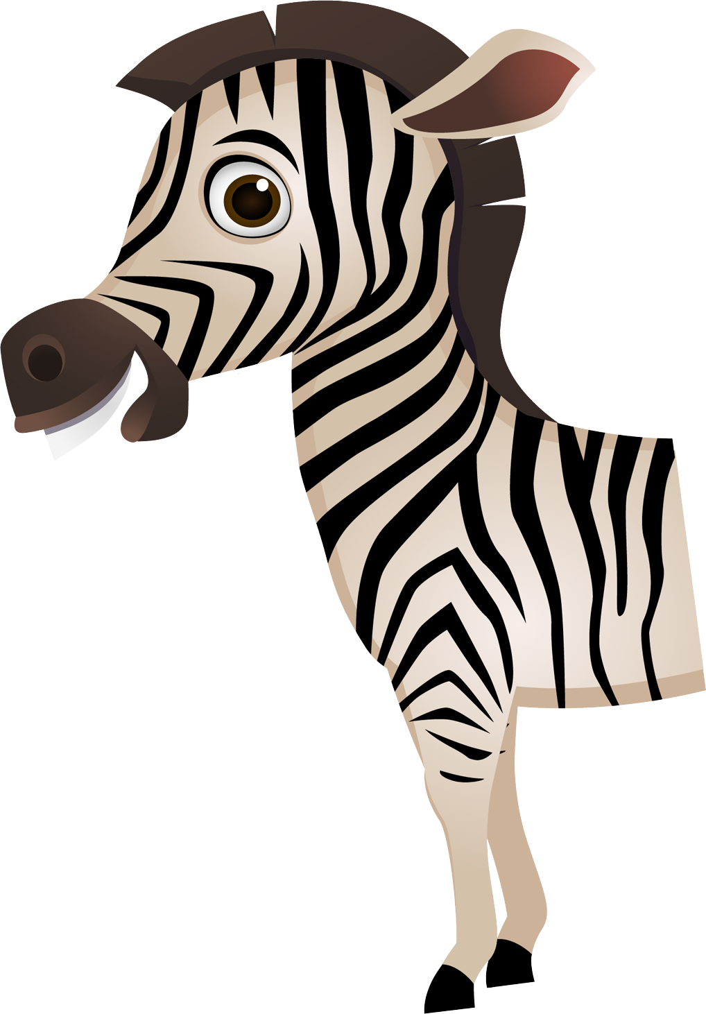 Clipart zebra cartoon character. Transprent png free download