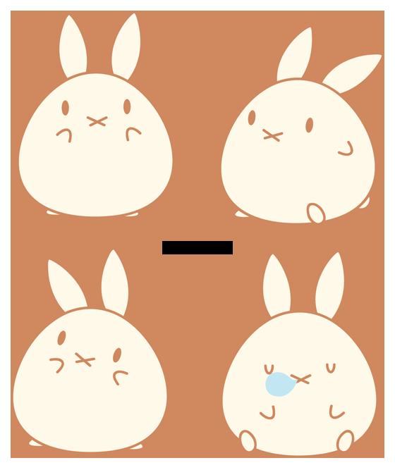 Chibi bunny by daieny. Manatee clipart tardigrade