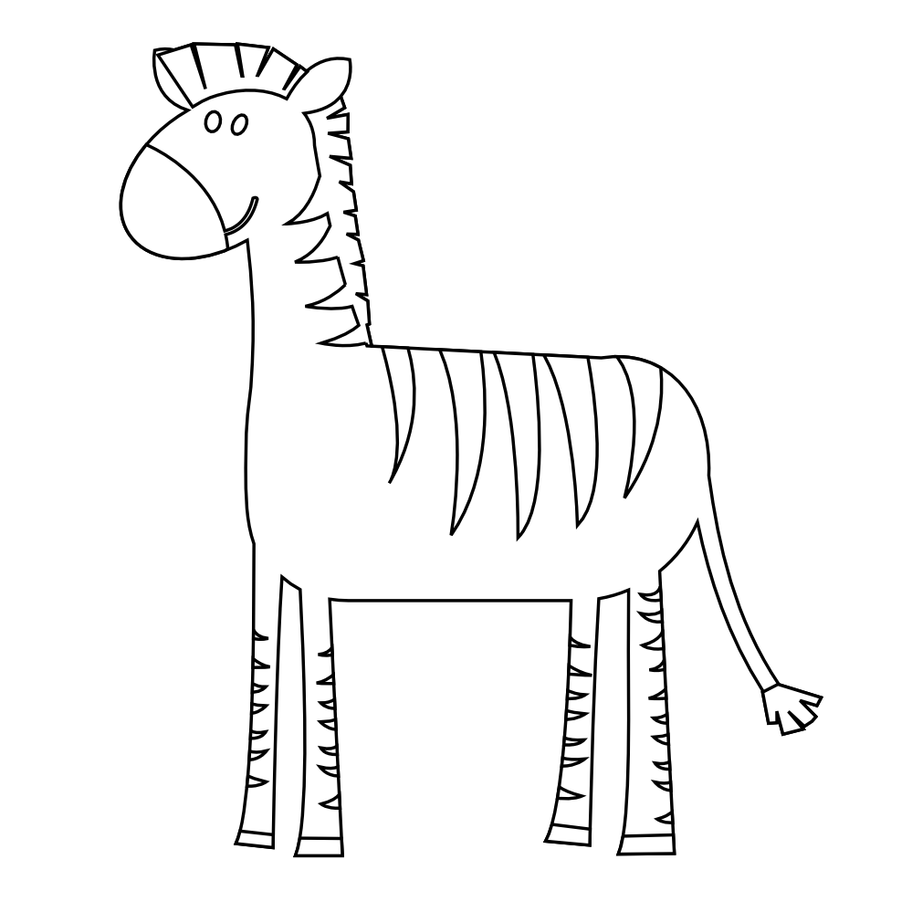 Clipartist net animal colorful. Clipart zebra coloring page