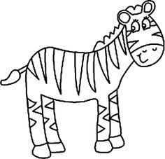 Coloring pages free download. Clipart zebra colouring page