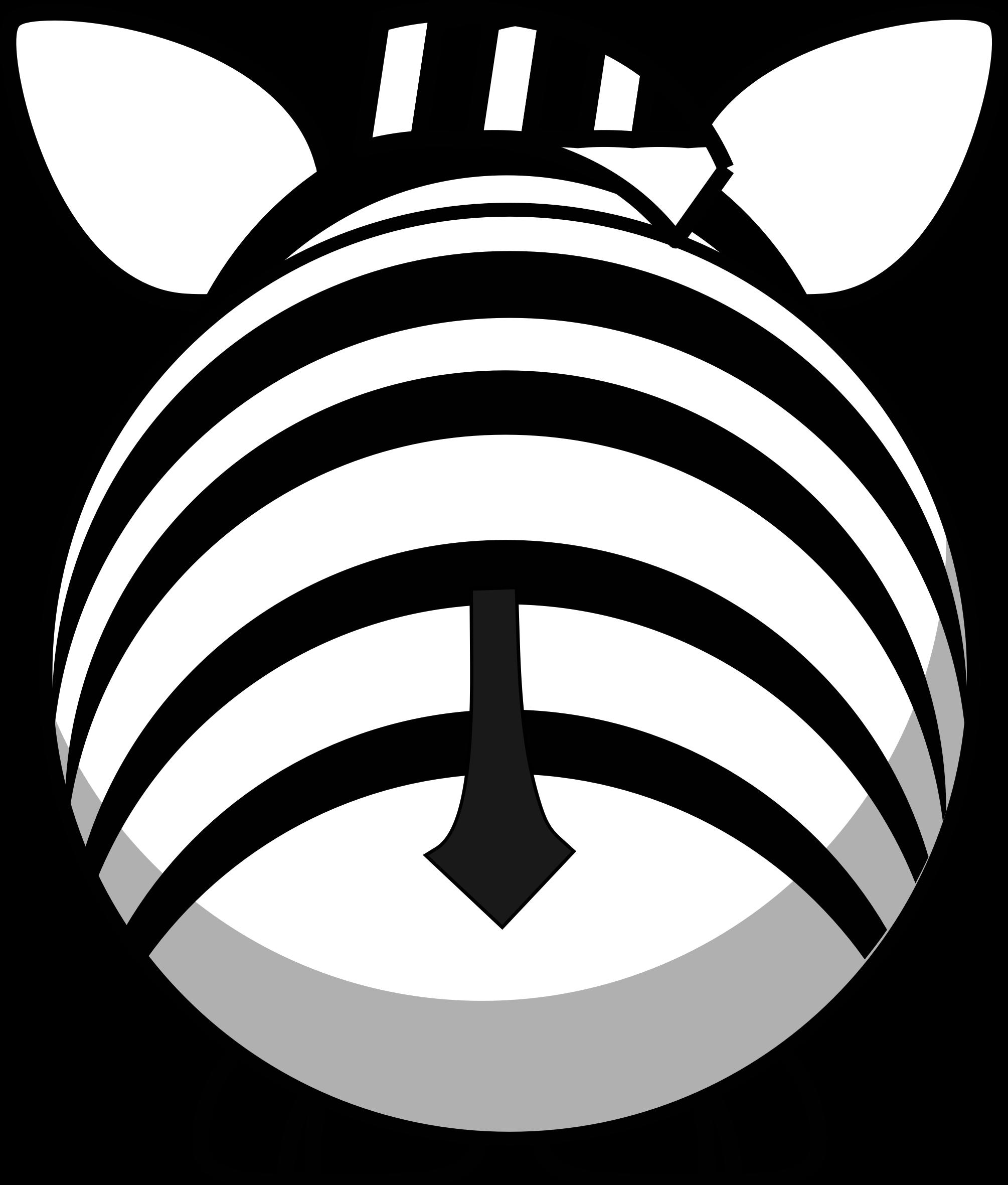 clipart zebra drawn