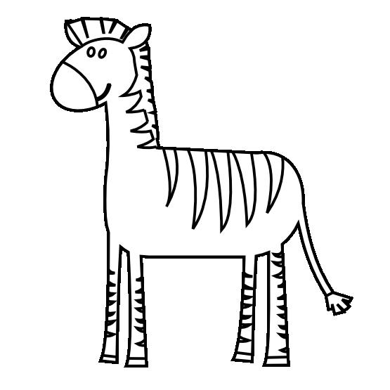 Clipart zebra drawn. Clipartist net search results