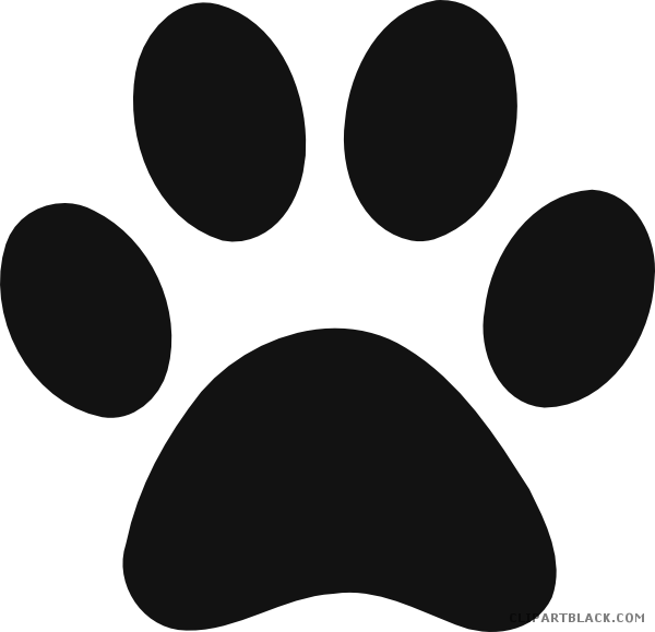 Hippo clipart footprints. Panther paw animal free