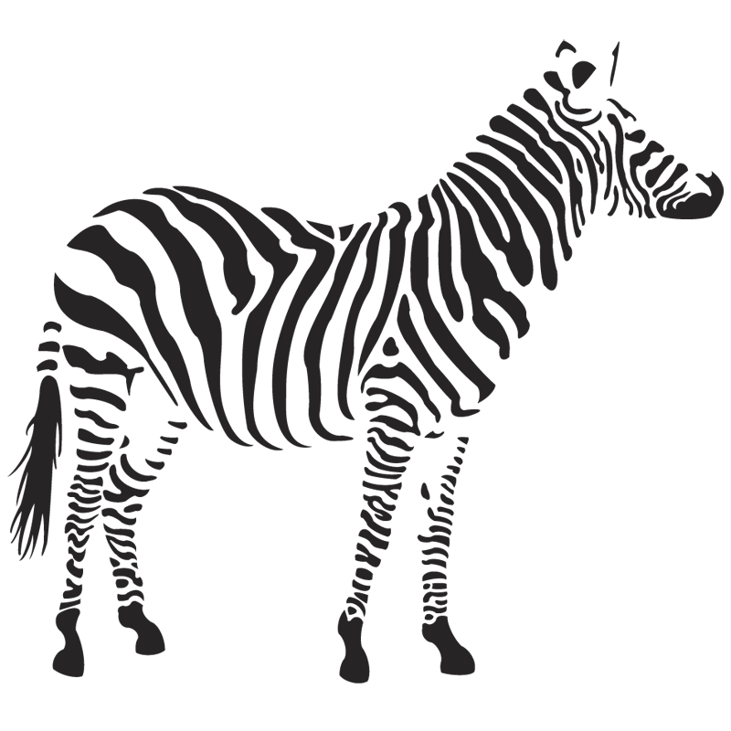 View pencil and in. Clipart zebra front