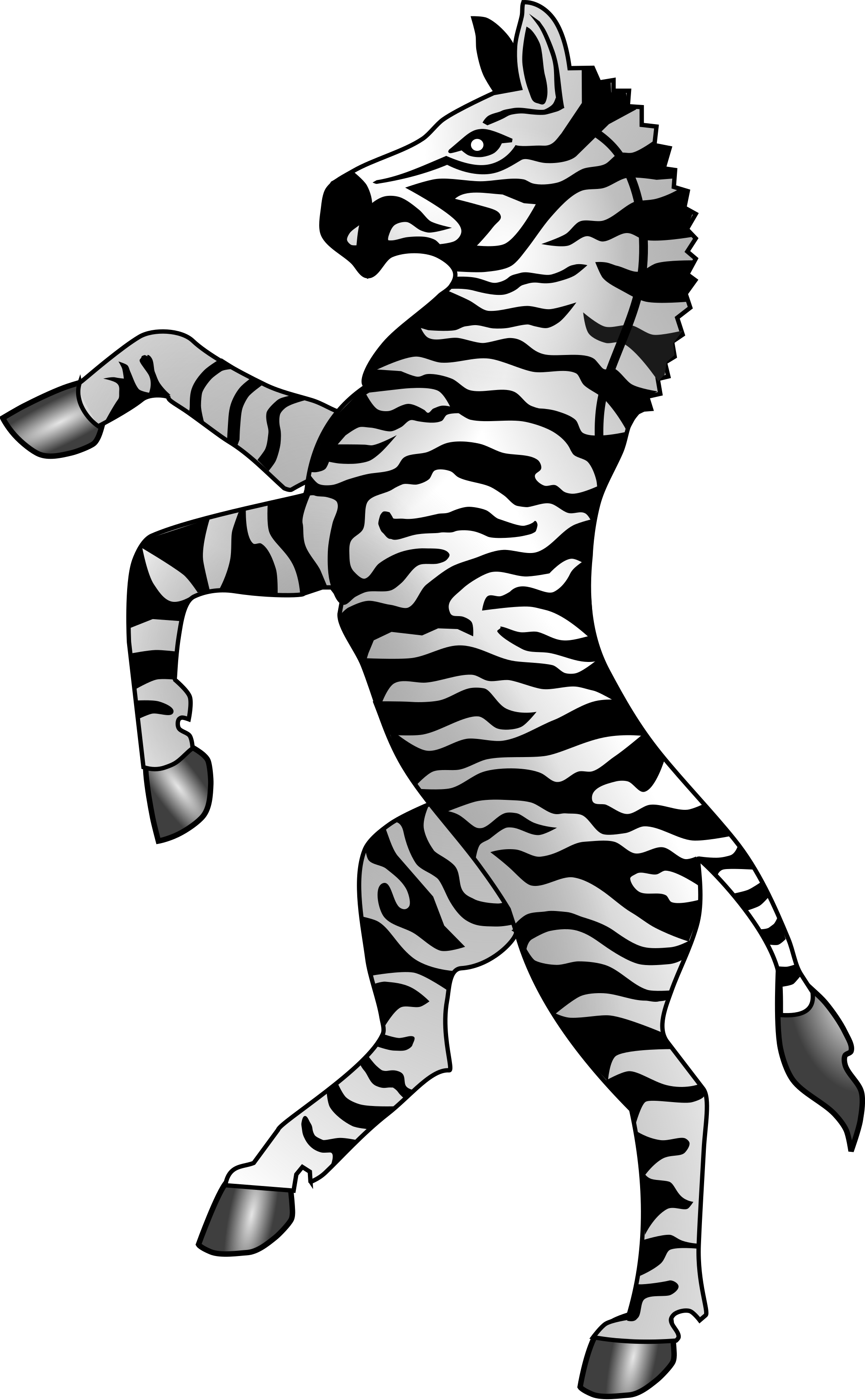 Clipart zebra front. File heraldry svg wikimedia