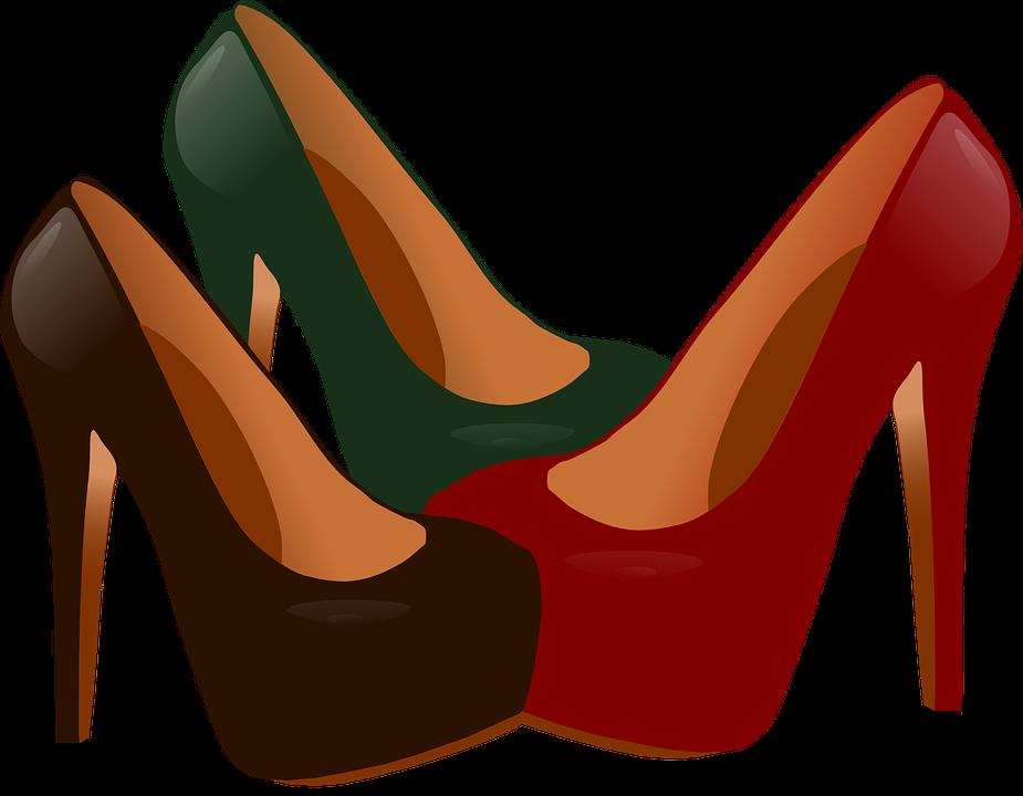 High heel stylish design. Heels clipart fancy shoe