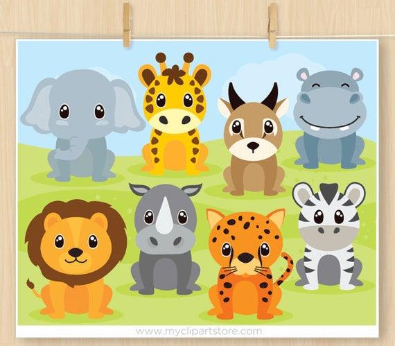 Clipart zebra hippo. Safari animals lion giraffe