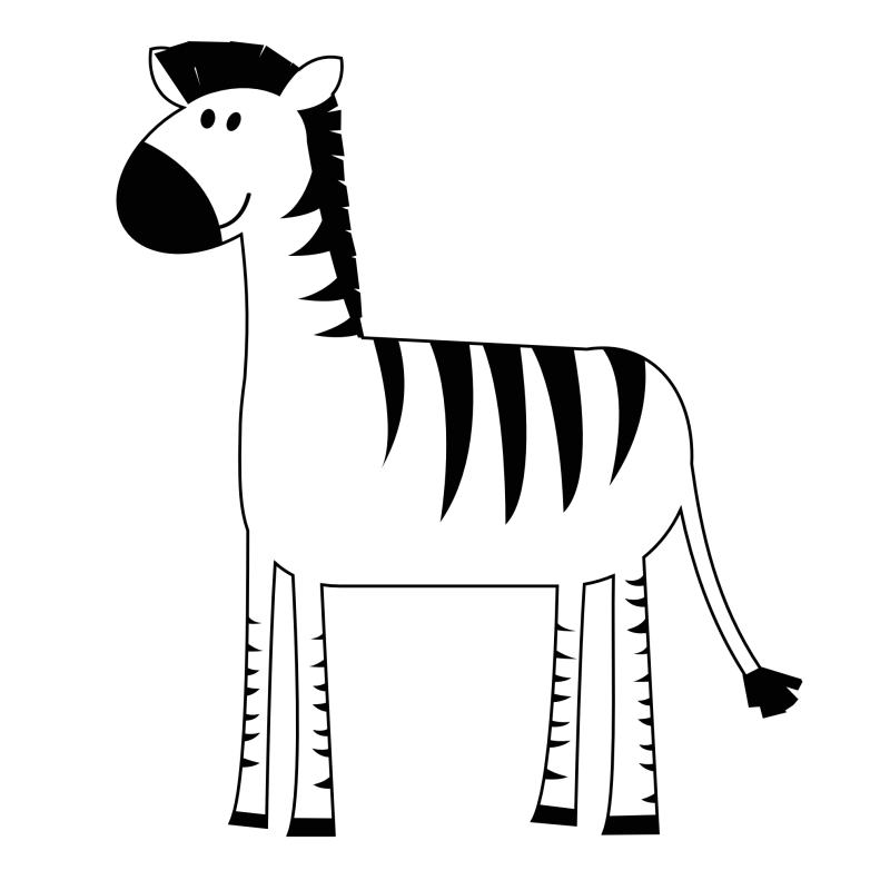 For kids ourclipart pin. Clipart zebra kid