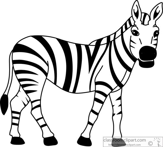 Black and white cliparting. Clipart zebra kid