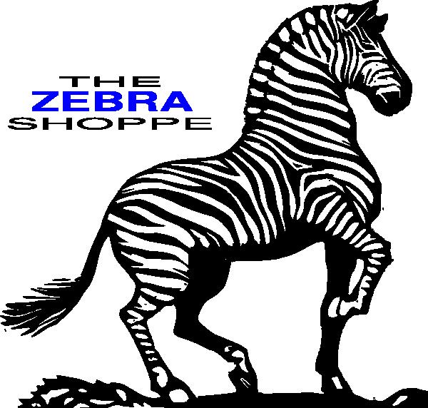 Clipart zebra logo. The shoppe clip art