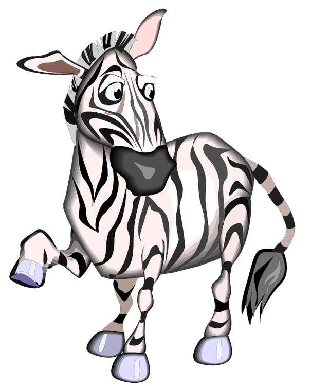 Manatee clipart animated. Free zebra