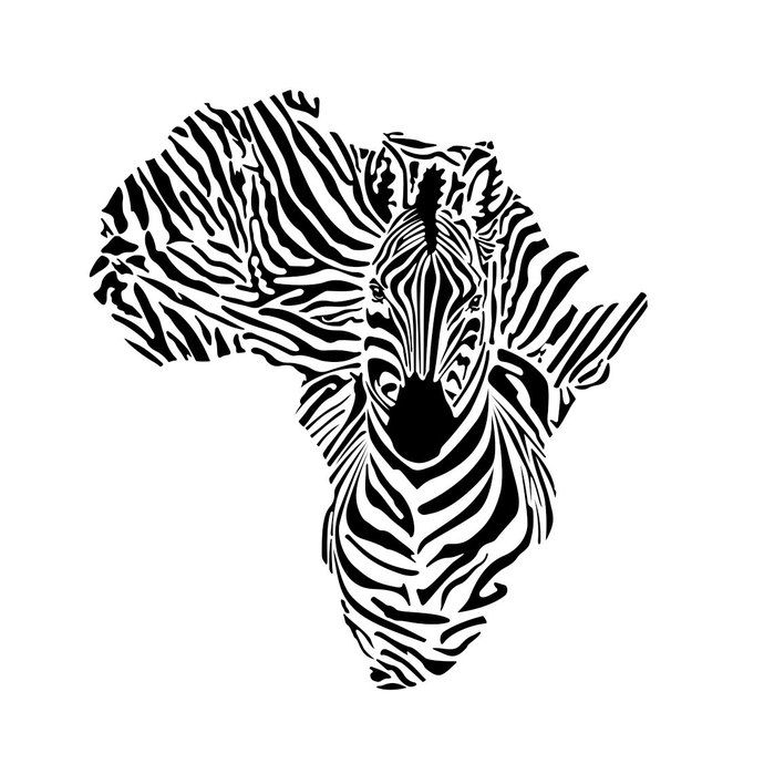 Africa continent graphics design. Clipart zebra pdf
