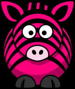 Clipart zebra pink zebra. Clip art at clker