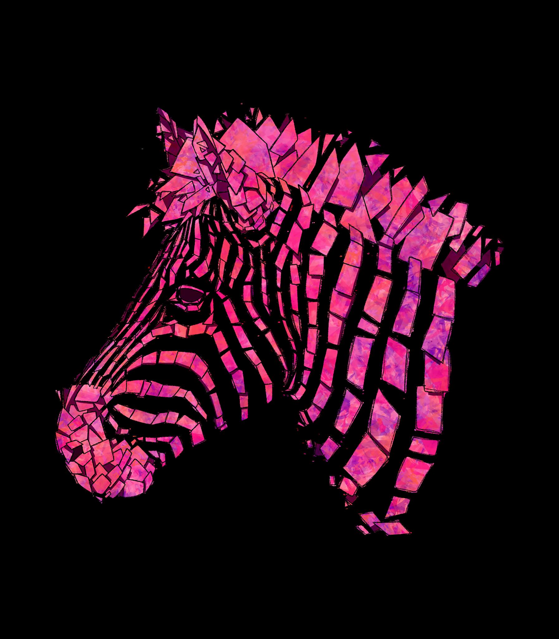 Clipart zebra pink zebra. Pullover tower threads