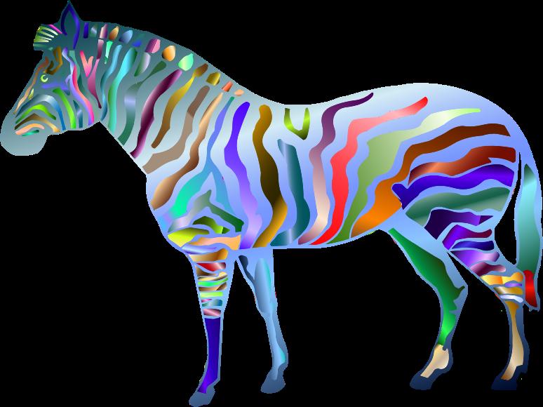 Clipart zebra purple zebra. Prismatic medium image png