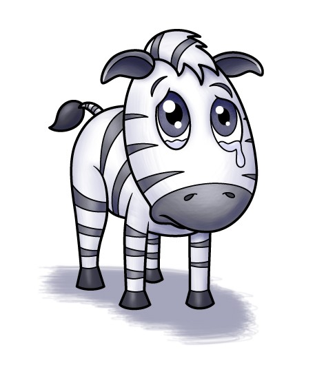 Clipart zebra sad. The little by isaac