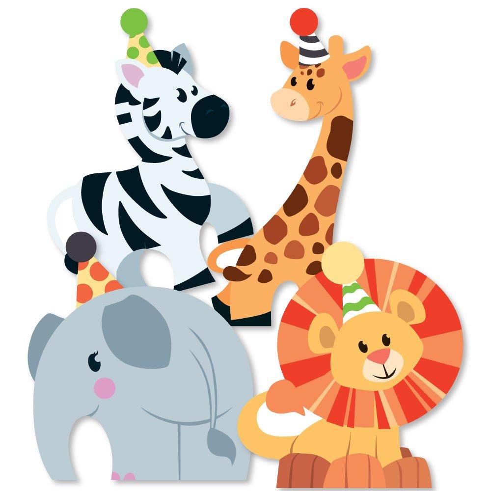 Jungle party animals elephant. Clipart zebra safari themed
