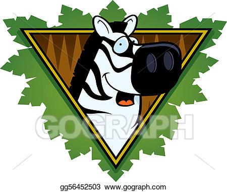 Clipart zebra safari themed. Vector illustration icon stock