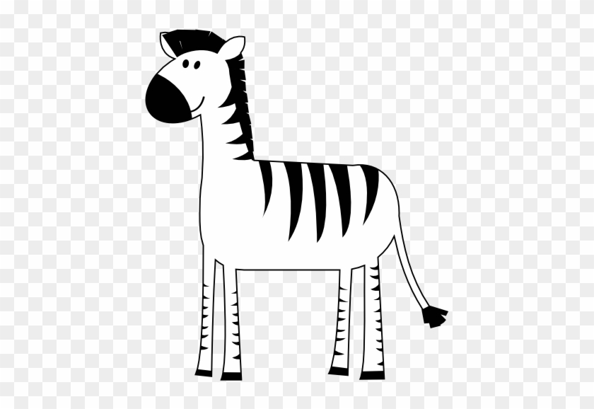 Clipart zebra simple. Colorful animal px black