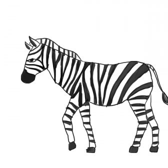 Drawing free download best. Clipart zebra simple