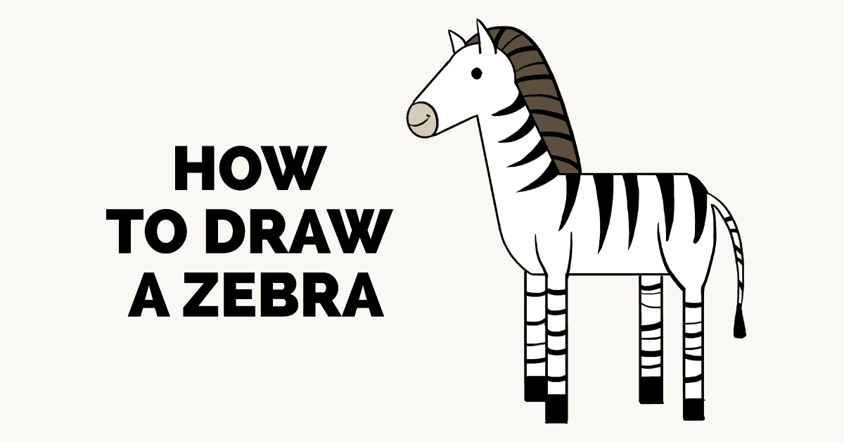 How to draw a. Clipart zebra simple