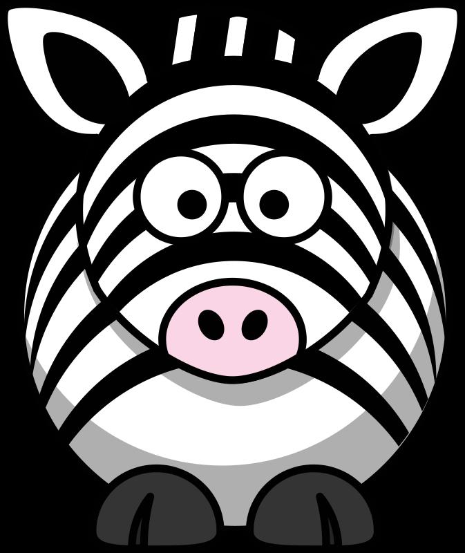 Illustration of a cartoon. Clipart zebra sketch